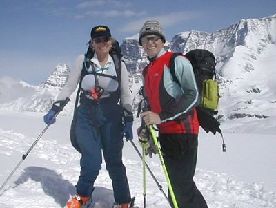 Wim & Nancy ski touring