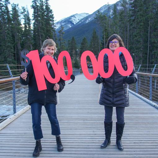 100000 Donation to YWCA